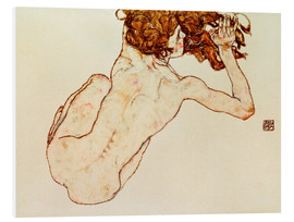 Forex  Crouching nude, back view - Egon Schiele