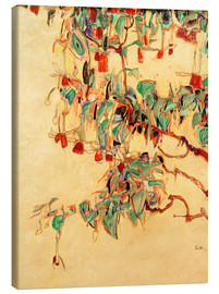 Canvas  Fuchsia branches (sun tree) - Egon Schiele