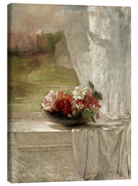 Canvas print  Flowers on a Window Ledge - John La Farge