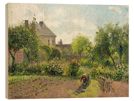 Wood print  The Artist's Garden at Eragny - Camille Pissarro