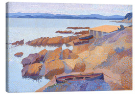 Canvas  Coast near Antibes - Henri Edmond Cross