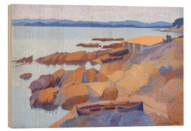Wood print  Coast near Antibes - Henri Edmond Cross