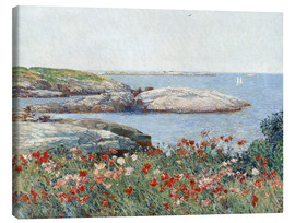 Canvas  Poppies, Isles of Shoals - Frederick Childe Hassam