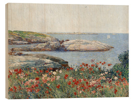 Wood print  Poppies, Isles of Shoals - Frederick Childe Hassam