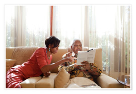 Premium poster Michelle Obama with Nelson Mandela