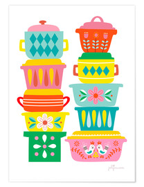 Poster Scandinavian dishes