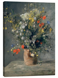 Canvas print  Flowers in a Vase - Pierre-Auguste Renoir