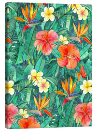 Canvas print  classic tropical garden watercolor pattern - Micklyn Le Feuvre