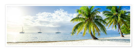 Premium poster Summer, sun, beach and sea in the Caribbean vacation