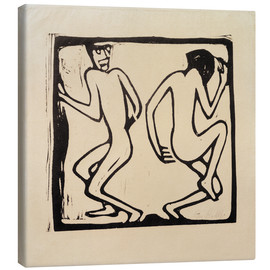 Canvas print  Two Dancing - Christian Rohlfs