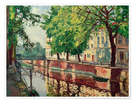 Poster Potsdam city canal