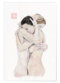 Premium poster  An Embrace - Bryan James