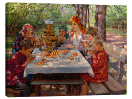 Canvas print  The Teacher's Guests - Nikolay Bogdanov-Belsky
