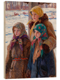 Wood print  The Three Sisters - Nikolay Bogdanov-Belsky