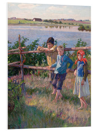Foam board print  Children at the lake - Nikolay Bogdanov-Belsky