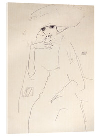 Acrylic print  Moa the dancer - Egon Schiele