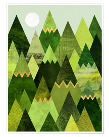 Poster Forest Mountains
