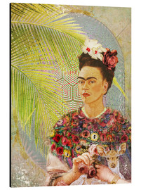 Alu-Dibond  Frida Kahlo With Deer - Moon Berry Prints