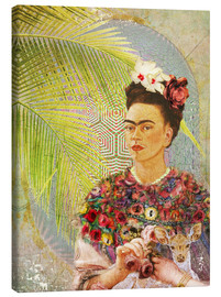 Canvas  Frida Kahlo With Deer - Moon Berry Prints
