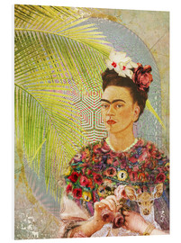 Forex  Frida Kahlo With Deer - Moon Berry Prints