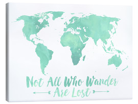 Canvas print  World map in mint - Mod Pop Deco
