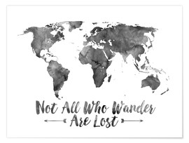 Premium poster  Watercolor World Map - Mod Pop Deco