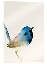 Acrylic print  Dark blue bird - Dearpumpernickel