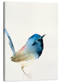 Canvas print  Dark blue bird - Dearpumpernickel