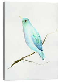 Canvas print  Turquoise Blue Bird - Dearpumpernickel