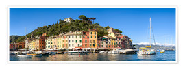 Premium poster Portofino Bay panorama in summer