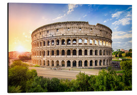 Aluminium print  Colosseum at sunset in Rome, Italy - Jan Christopher Becke