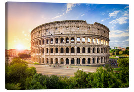 Canvas print  Colosseum at sunset in Rome, Italy - Jan Christopher Becke