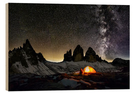 Wood  Loneley camper with Milky Way at Dolomites - Dieter Meyrl