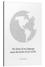 Aluminium print  Limits of my language - RNDMS