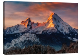 Canvas  Alpenglow at Watzmann - Dieter Meyrl