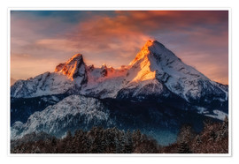 Dieter Meyrl - Alpenglow at Watzmann