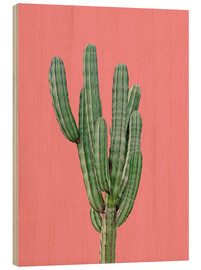 Wood print  Cactus in pink - Finlay and Noa