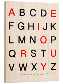 Wood  Alphabet Black Red - Finlay and Noa