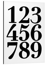 Aluminium print  Enumerated! The numbers 1 - 9 - Finlay and Noa
