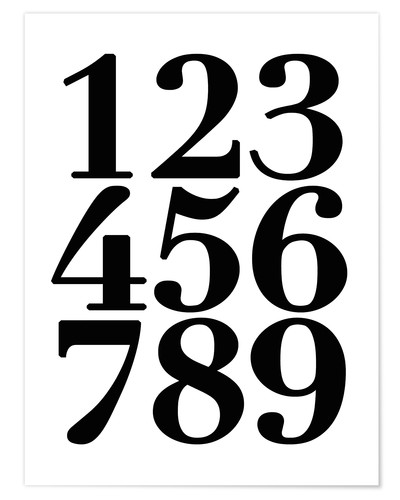 Premium poster Enumerated! The numbers 1 - 9