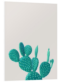 Foam board print  Turquoise cactus - Finlay and Noa