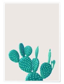 Poster  Turquoise cactus - Finlay and Noa