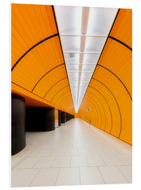 Foam board print  Marienplatz  subway station in Munich - Dieter Meyrl