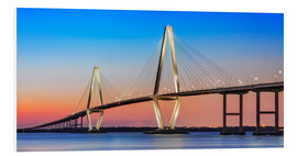 Foam board print  Cooper River Bridge - Charleston - Dieter Meyrl