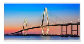 Premium poster Cooper River Bridge - Charleston