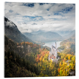 Acrylic print  Neuschwanstein Castle at Autumn - Dieter Meyrl
