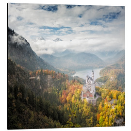 Aluminium print  Neuschwanstein Castle at Autumn - Dieter Meyrl