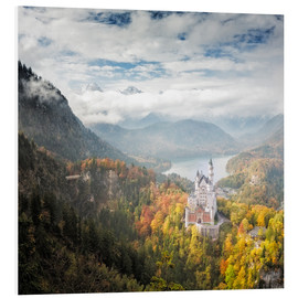 Foam board print  Neuschwanstein Castle at Autumn - Dieter Meyrl