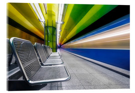 Acrylic glass  Candidplatz subway station in Munich - Dieter Meyrl