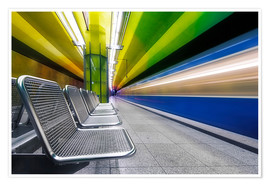 Poster  Candidplatz subway station in Munich - Dieter Meyrl